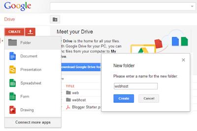 Membuat Folder di Google Drive