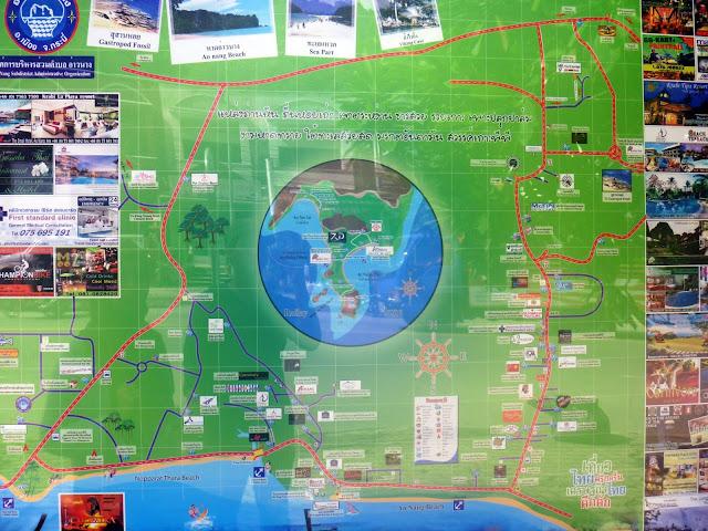 AoNang Krabi Map