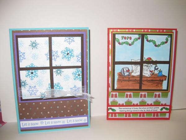 Windowpane card for the holidays