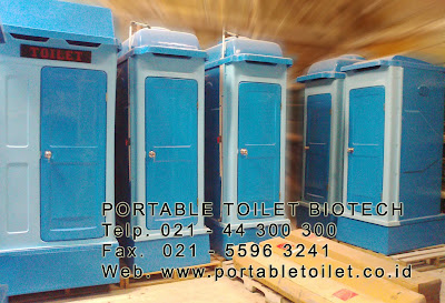 toilet portable, flexible toilet fibreglass, wc sementara, toilet proyek, portable toilet fibreglass, septic tank biotech