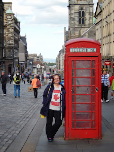 Me visiting the Royal Mile Edinburgh