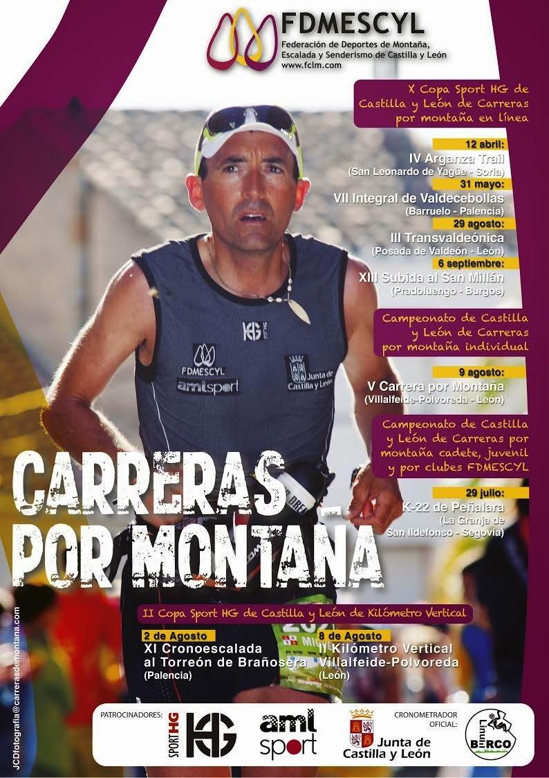 Cartel X Copa Sport HG de Castilla y León de Carreras por Montaña en Línea. /FDMESCYL