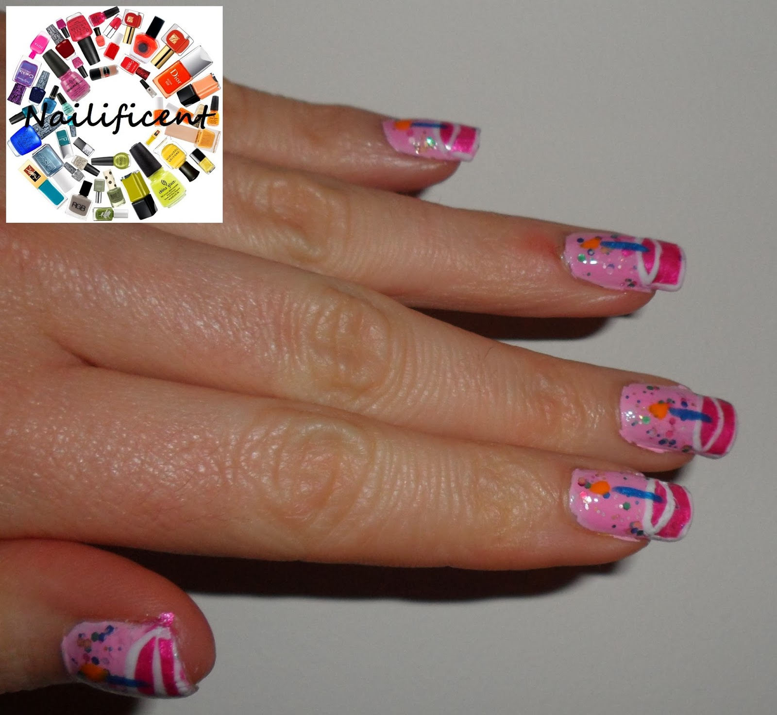 Birthday Cake Nails: Nailificent: Birthday Cake Nail Art