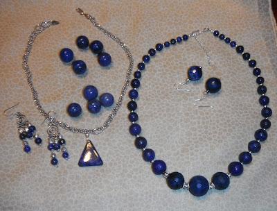 Lapislazuli, lapis lazuli, sterling silver, brujaness, brujaness'sworkshop, necklace