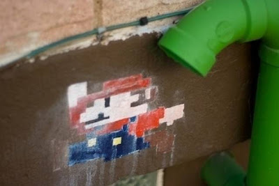 Super Mario Bros Street Art Seen On www.coolpicturegallery.us