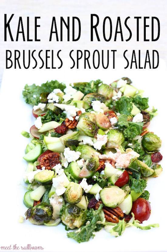... : Kale and Roasted Brussels Sprout Salad & Menu Monday Link Up