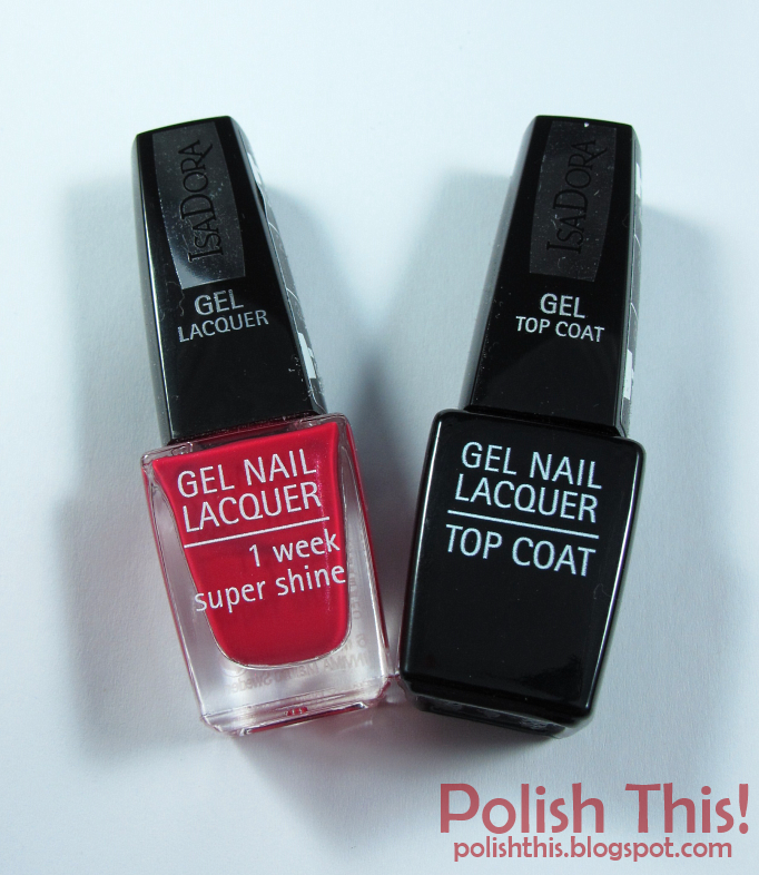 IsaDora Gel Nail Lacquer Scarlet Red - Polish This!