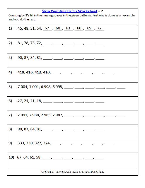 math worksheet : 3rd grade math skip counting worksheets : Free Worksheets For 3rd Grade Math