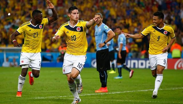 Ver partido Uruguay vs Colombia en vivo