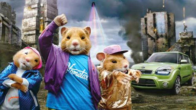 commercial with hamsters driving the car