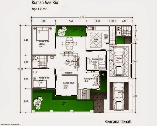 model rumah minimalis Type 54 5