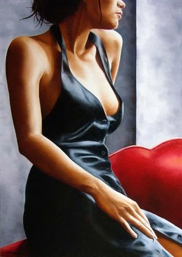 La pintura sensual y sugerente de Annick Bouvier
