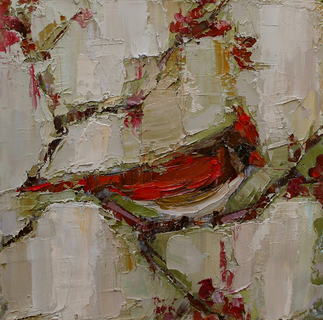 kathryn trotter art, kathryn trotter, bird paintings, impasto style painting, www.kathryntrotterart.com