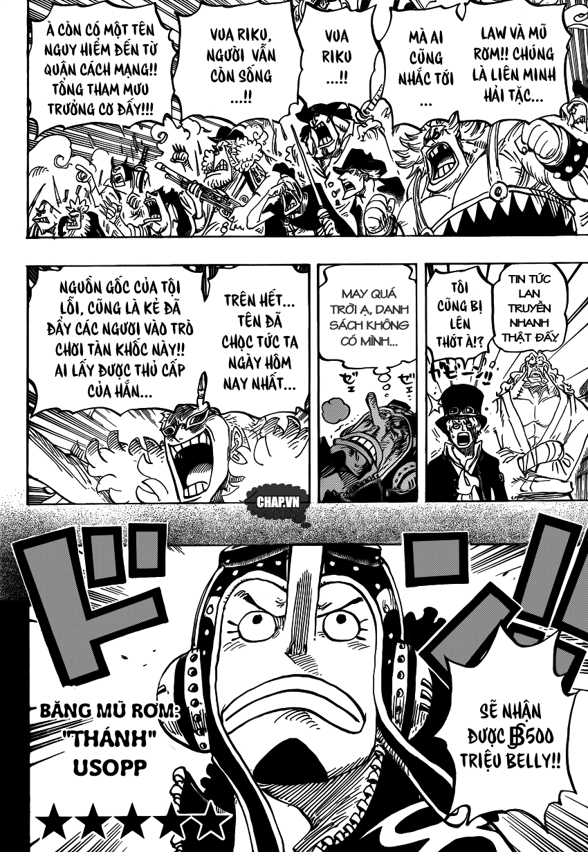 One Piece Chapter 746: Những ngôi sao 009