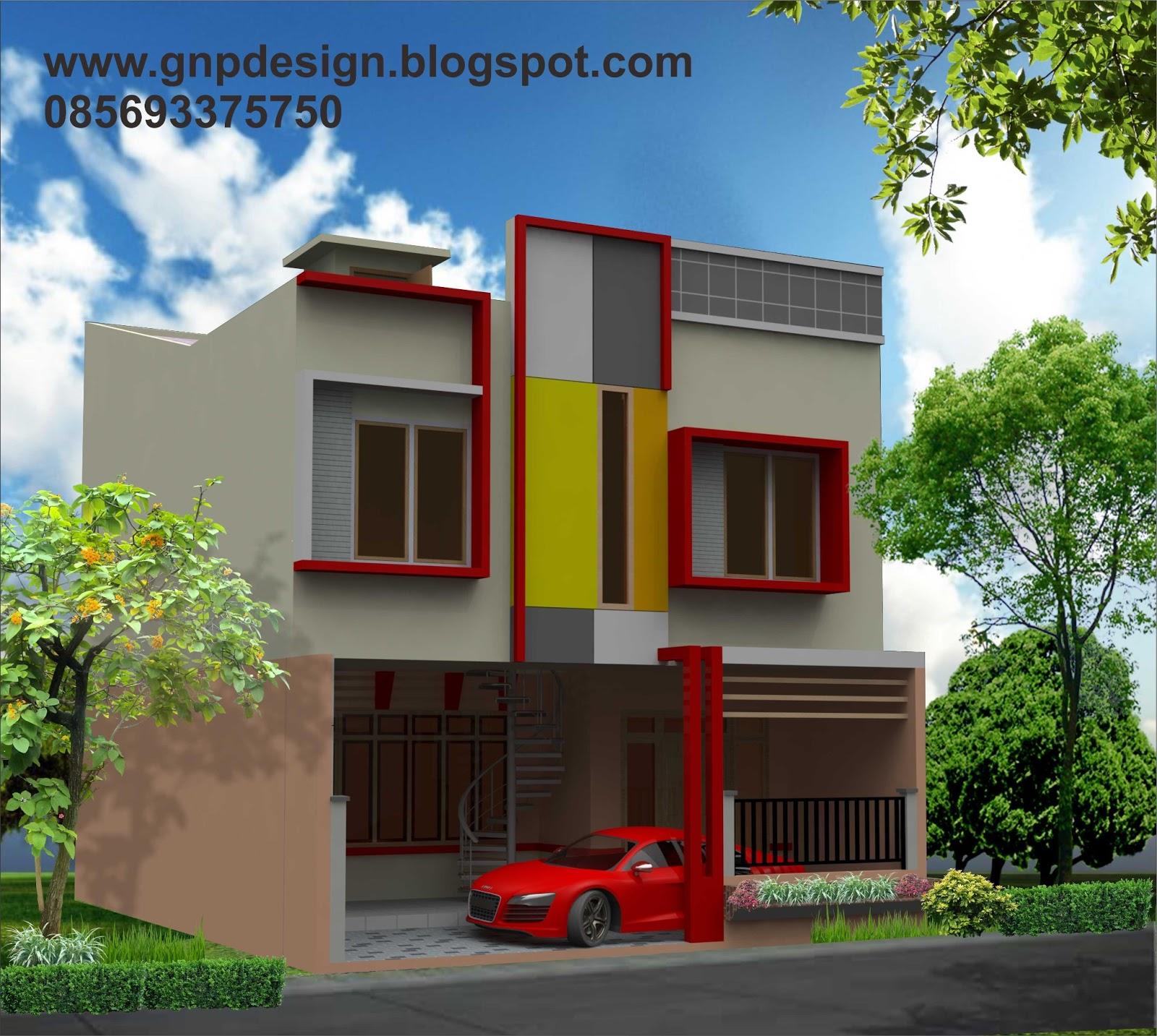 gnp design design rumah minimalis buat kontrakan 2 lantai