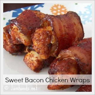 Sweet Chicken Bacon Wraps