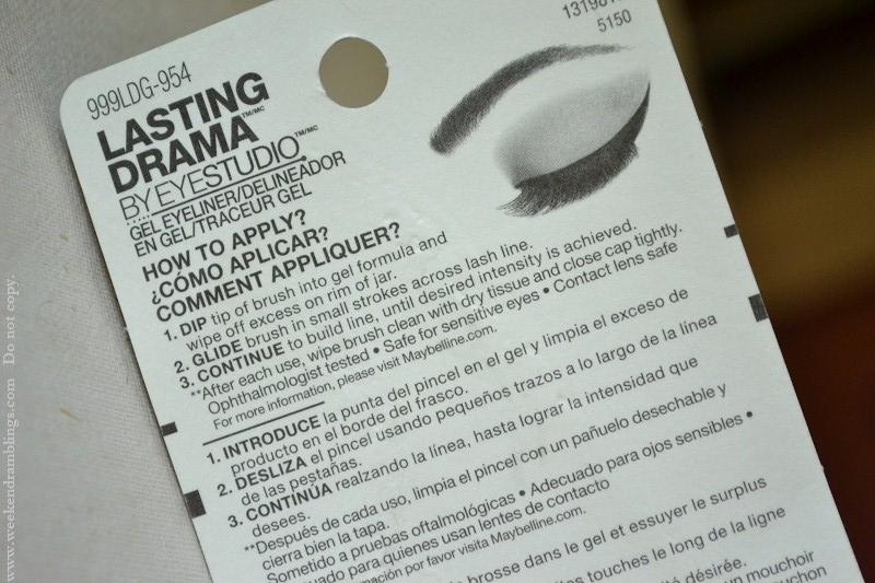 maybelline eyestudio gel eyeliner review swatch eotd charcoal carbon