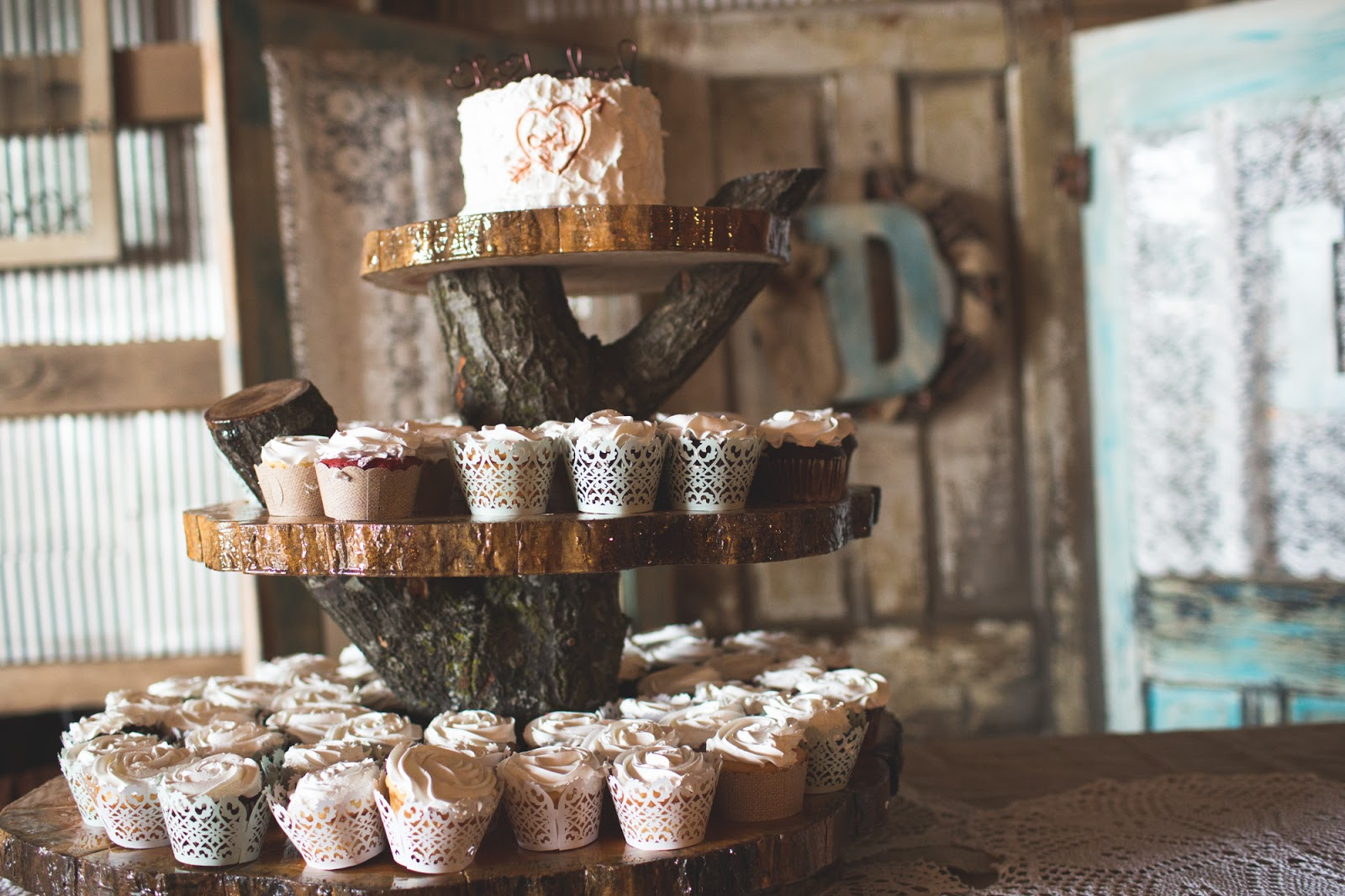 Wooden Wedding Cupcake Stands Viewing Gallery