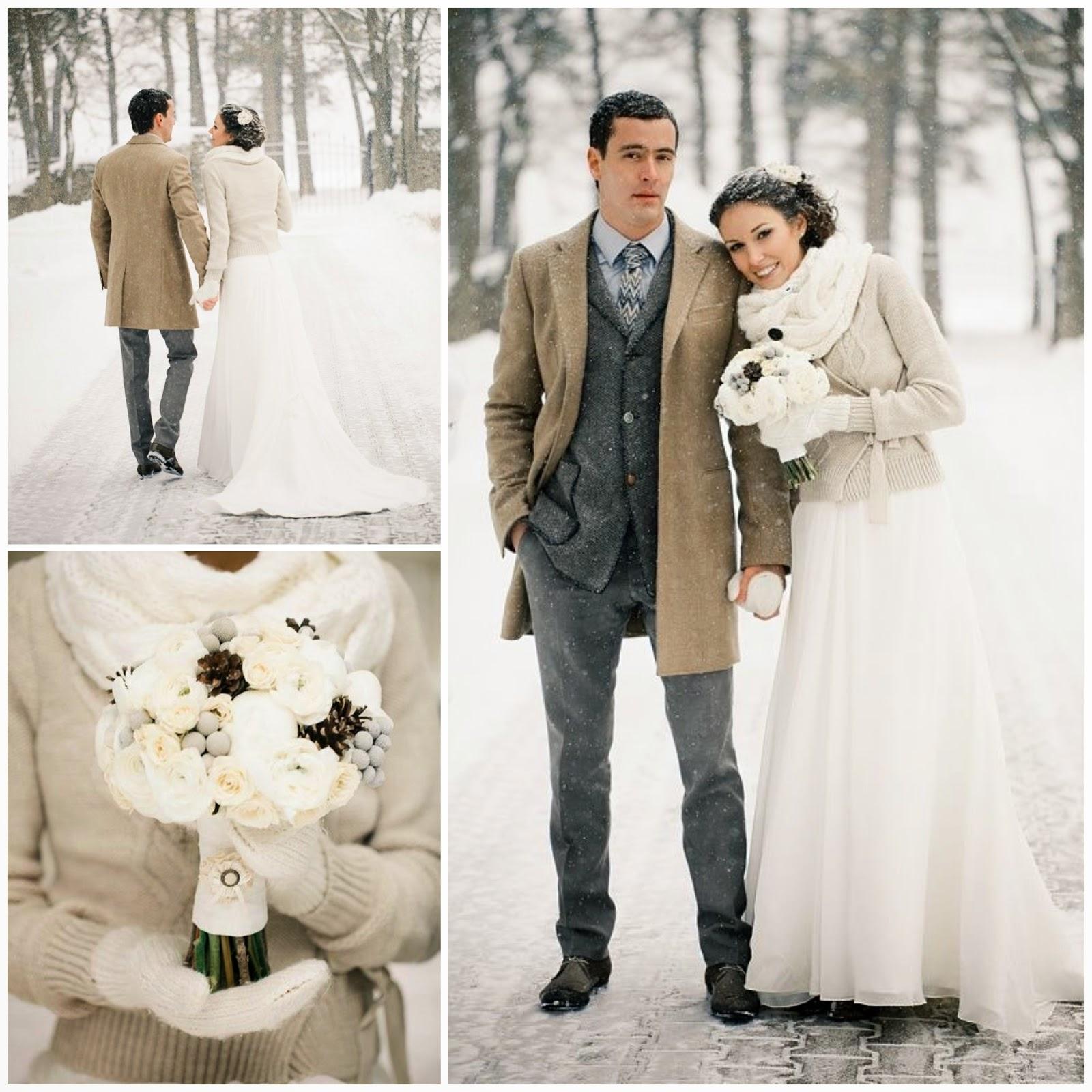 Свадьбы зимой фото невест