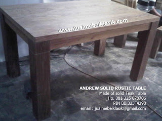 Supplier furniture jati teak wood dining table solis teak furniture minimalist teak furniture