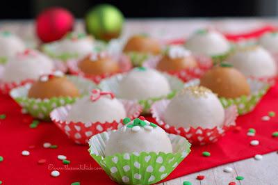 Eggnog Cheesecake Truffles