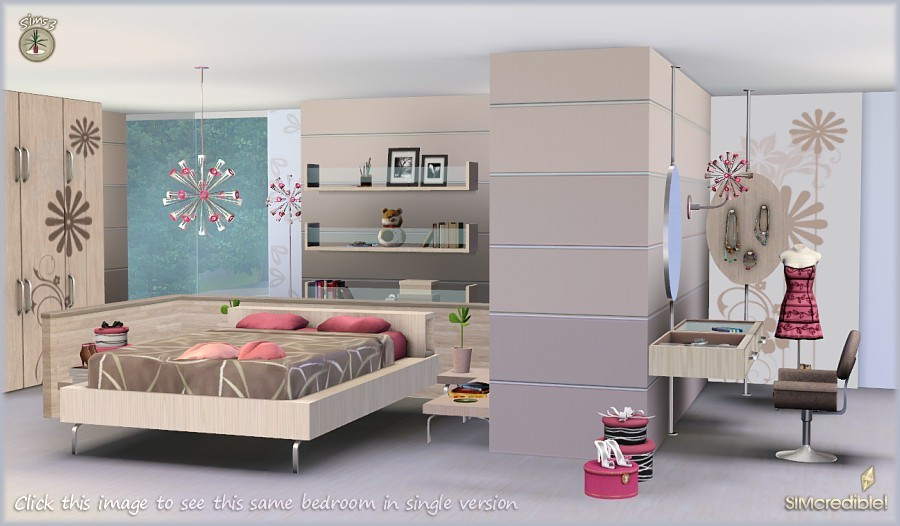 My sims 3 blog petala bedroom and decor by simcredible for Bedroom ideas for 3 beds