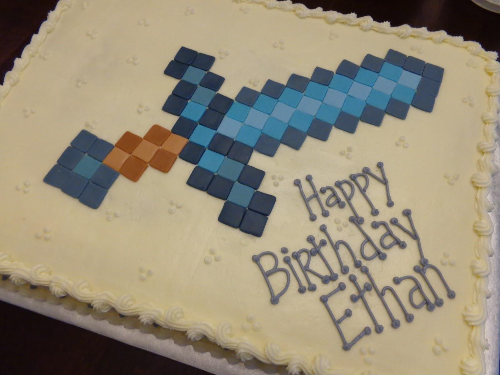 Minecraft Sword Cake Images : Minecraft Diamond Sword Cake Ideas and Designs