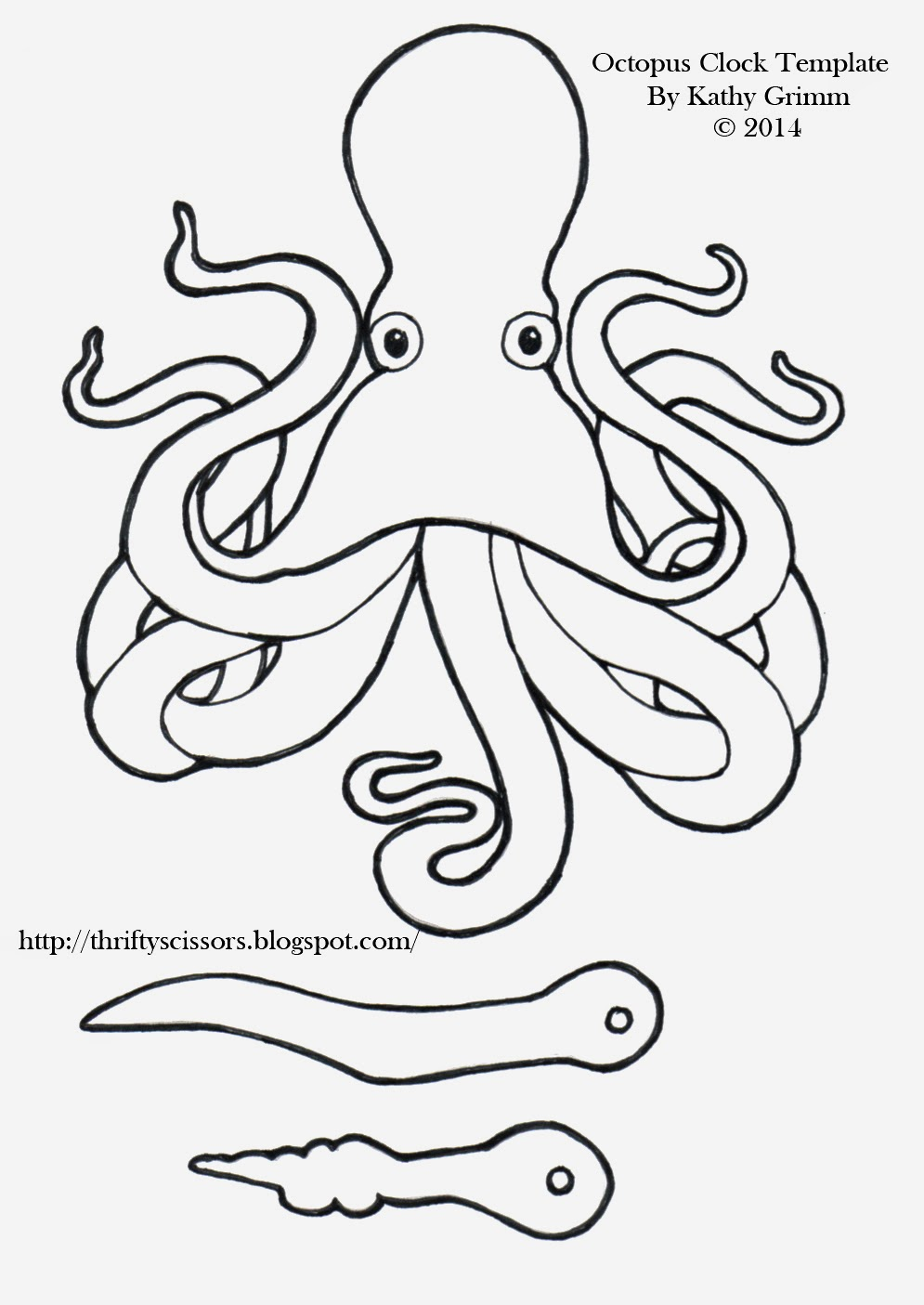 octopus clock craft thrifty scissors. Black Bedroom Furniture Sets. Home Design Ideas