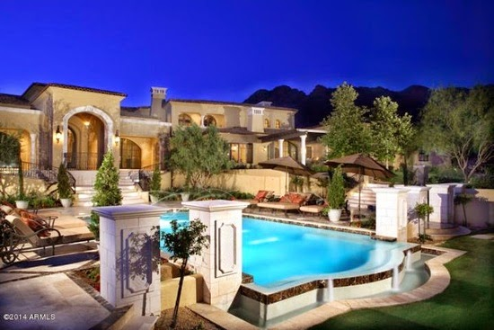 Eileen 39 s home design newly listed mansion for sale in for Mansions for sale in scottsdale az