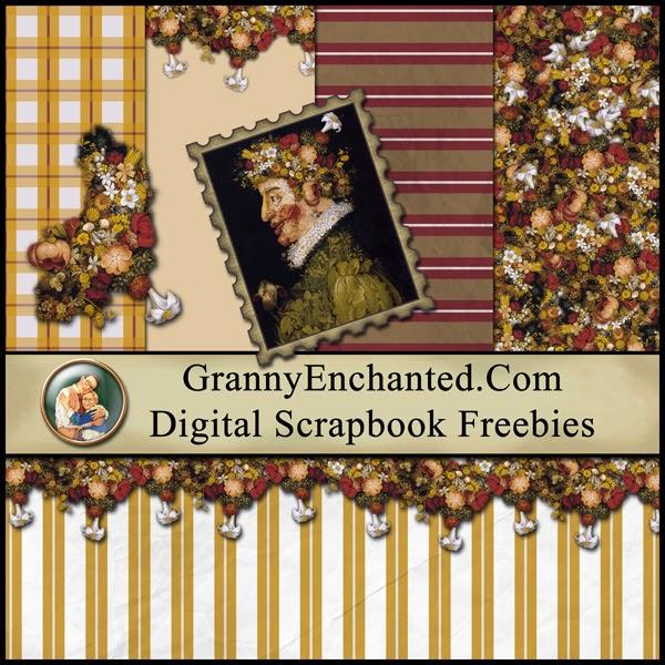 Free Silly Victorian Digital Scrapbook Mini Kit