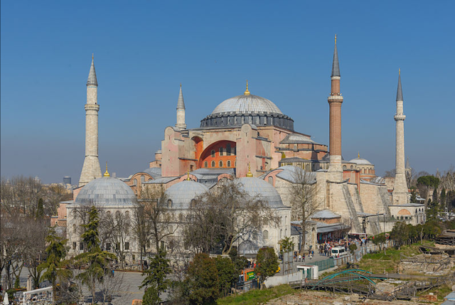A magnificient view of Hagia Sophia, Istanbul, Turkey 532-537