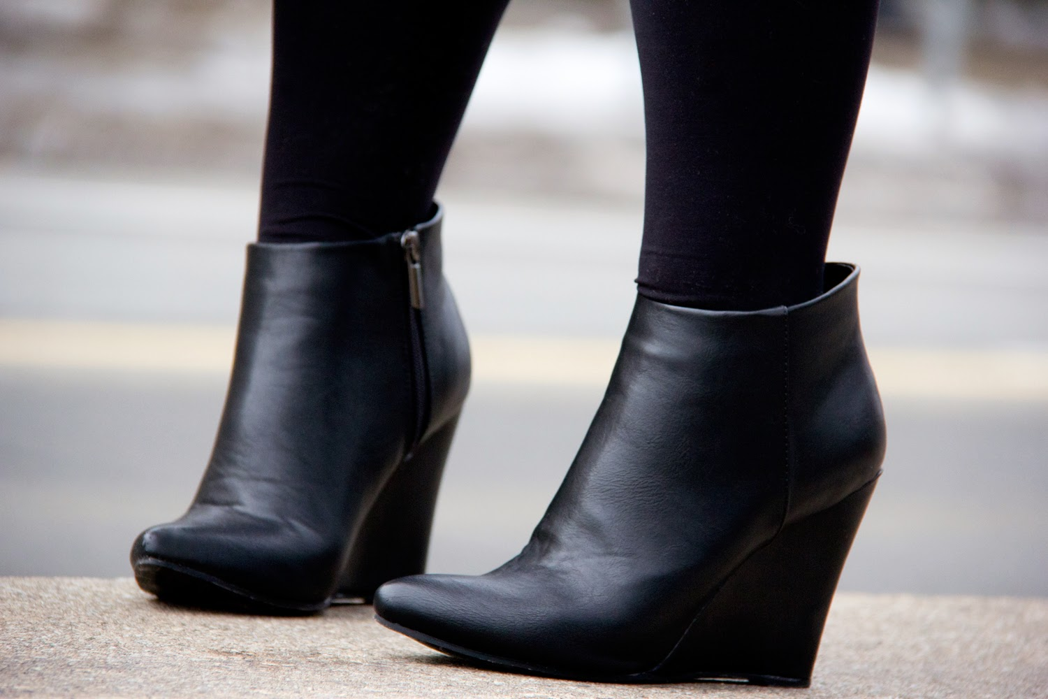 LeChateau-Black-Ankle-Boots, Footwear, Tights, Street-Fashion
