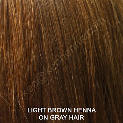 Light Brown Henna Hair Color On Gray Hair