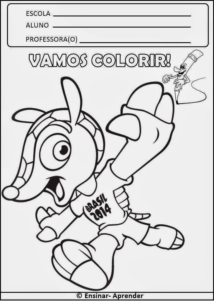 Pintar o mascote da copa do mundo