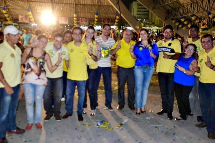 PREFEITA EUDA E BADO VENÂNCIO PARTICIPAM DE COMÍCIO COM CÁSSIO E AÉCIO EM CAMPINA GRANDE