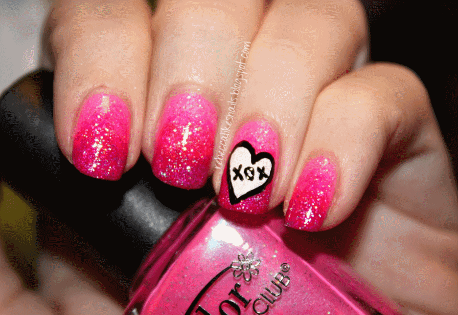 rebecca likes nails: valentines series - xox