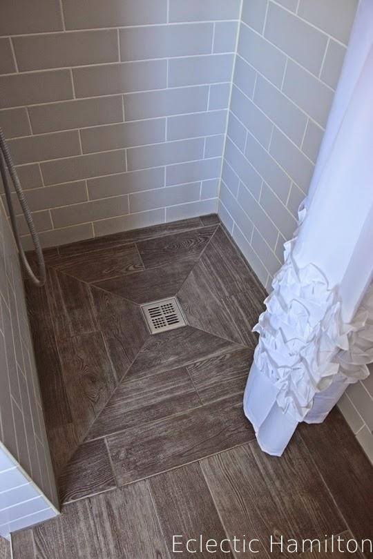 Das badezimmer endlich eclectic hamilton - Dusche fliesen holzoptik ...