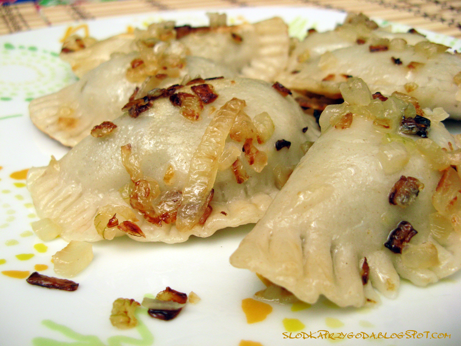 Pierogi With Potato, Cheese, Bacon, And Peas Filling Recipes ...