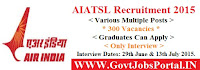 AIATSL Recruitment 2015