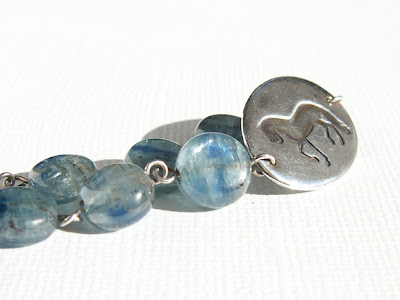 Kyanite horse bracelet by Jennifer Kistler, not for sale