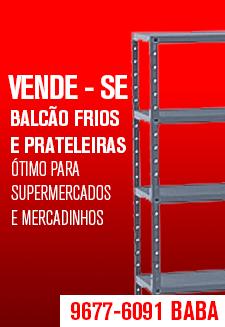 Vende-se Balcão Frios e Prateleiras