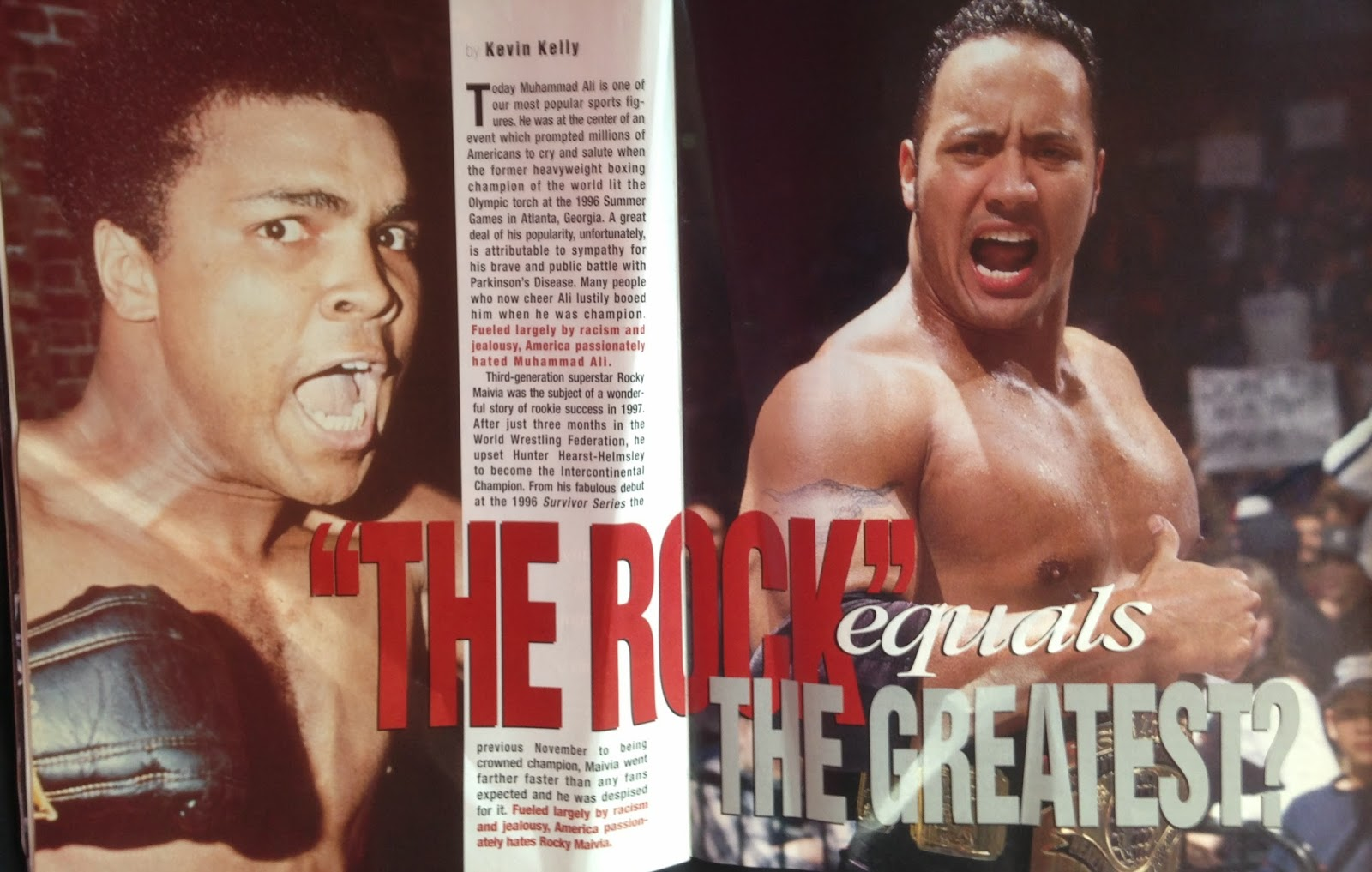 WWE - WWF Raw Magazine - April 1998 - Comparing The Rock to Muhammad Ali
