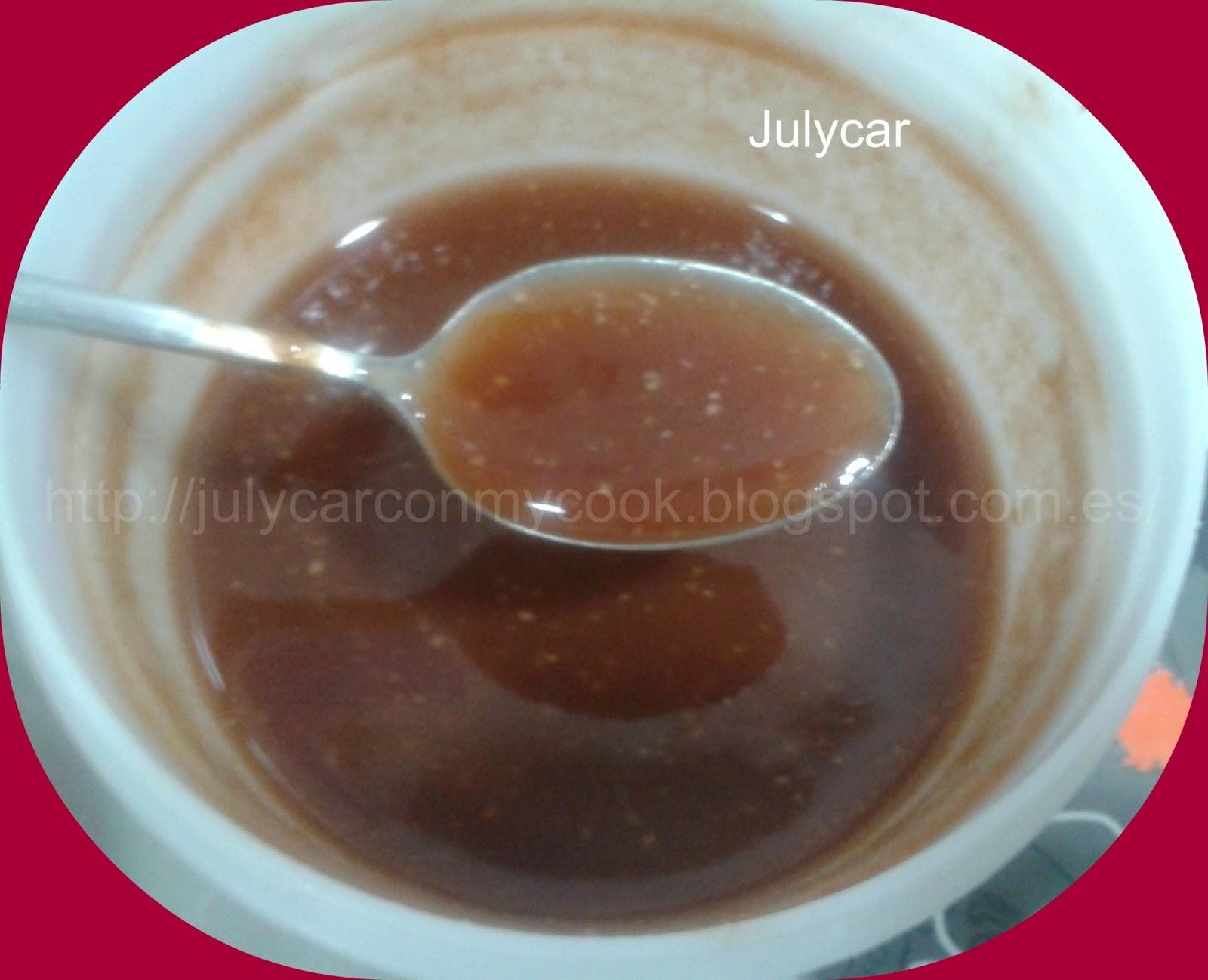 Recetas dukan by julycar salsa barbacoa for Salsa barbacoa ingredientes