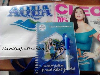 produk aqua dan majalah