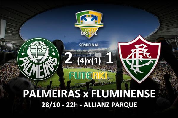 Veja o resumo da partida com os gols e os melhores momentos de Palmeiras 2 (4)x(1) 1 Fluminense pela semifinal da Copa do Brasil 2015.
