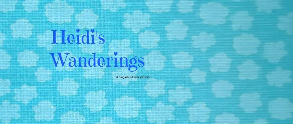 heidi's wanderings