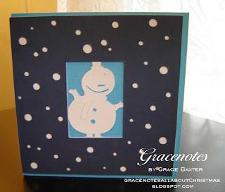simple snowman window card