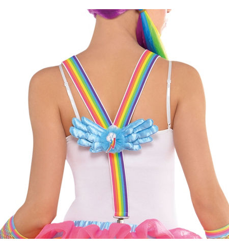 MLP Rainbow Dash Adult Costume Suspenders