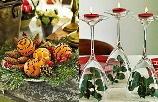 25 Idéias deúltima hora para fazer a decoraç u00e3o da sua casa e da Ceia de Natal Blog Casa e  # Decoração Mesa De Frutas Natal Simples
