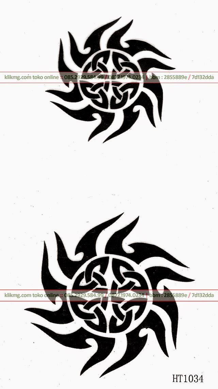 Sticker Tatto Model Vector Tribal HT1034 - Kode Barang : A0056 | klikmg toko online